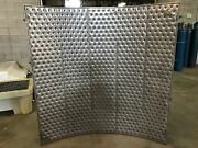 Plate Coils Double Embossed Clamp-on Shell Sections 48 Radius 18 Ga. 304 Ss