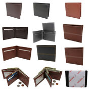 Wholesale Lot Of 50 Menand039s Leather Bifold Wallets Id Case Business Card Holder