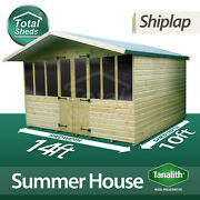 14 X 10 Supreme Summer House Log Cabin Officebar Shed High Quality Wooden Timber