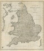 An Accurate Map Of England And Wales From The Best Authorities. Cary 1789
