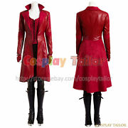 Captain America 3 Civil War Wanda Maximoff Cosplay Scarlet Witch Party Costume