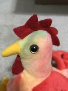 Strut Rooster Doodle Tags Ty Beanie Baby Original Retired Rare Error Oddity