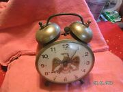 Vintage S 1960and039s/70and039s Lux Alarm Clock Patriotic Great Condition