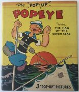 1935 Popeye With The Hag Of The Seven Seas By E.c. Segar Pop-up Book