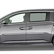 Body Side Moldings, Painted With Chrome Trim Insert For Honda Odyssey 2011-2017