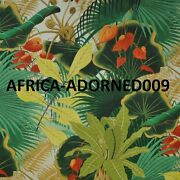 Clarence House Bahia Tropical Cotton Linen Fabric 10 Yards Beige