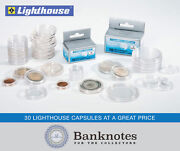 1/2 Oz Gold Maple Leaf 30 Coin Capsules Lighthouse Direct Fit 25 Mm Holders Us