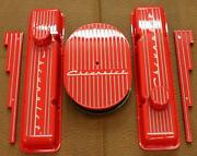 Chevrolet Hugger Orange Small Block Tall Valve Cover Set Vintage Show Quality