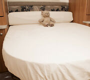 Sterling Eccles 580 2016 Island+bolster Fitted Sheet - Ivory White Walnut Whip
