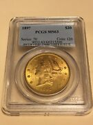 1897 Ms-63 Pcgs Liberty Double Eagle 20 Gold Coin Lustrous Eye Clean