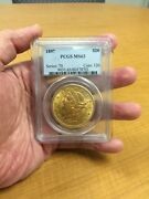 1897 Ms-63 Pcgs Liberty Double Eagle 20 Gold Coin Classic Holder Nice Coin
