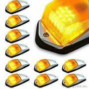 10 Pc Amber Chrome 31 Led Cab Marker Lights Fits Peterbilt Kenworth Freightliner