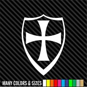 Maltese Cross With Shield Vinyl Decal Sticker Car Bumper Knights Choppers