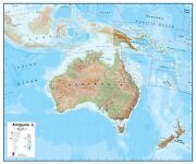 Australasia Wall Map Physical Poster Print Art Map Choose Size Finish