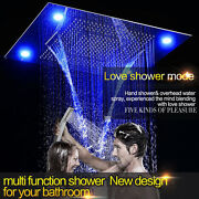 31 Led Rainfall Shower Heads Sets Bathroom Hot And Cold Valve Faucet Bath Mixer
