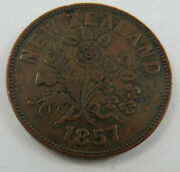 Pt-83 New Zealand-auckland 1857 M. Sommerville Penny Coin. See Pictures