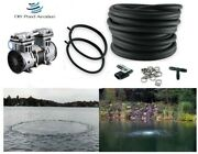 Large Fish Pond Aerator System 200' Wtd Hose 2-48 Diffusers 1/2hp Pump 2yr Wty
