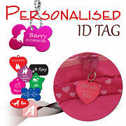 Personalised Engraved Id Tag Pet Dog Cat Identity Tags Split Ring