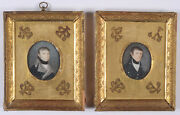 Portraits Of Two Brothers A Pair Of German Miniatures 1800/05