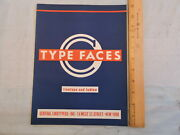 1938 Flatiron District 8x11 Type Faces 2-sided Ad Nyc New York City