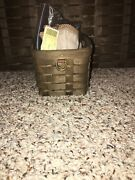 Longaberger Very Rare Deep Brown Sort And Store Desk Pal Basket With Flax Cord