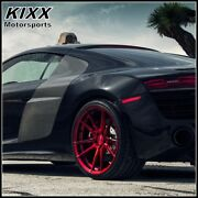 20 Rohana Rf2 20x9/11 Forged Red Concave Wheels For Maserati Gran Turismo