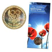 2015 Unc 1 Anzac And039the Spirit Livesand039 Counterstamp Coin On Card Low Mintage 30k