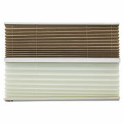 Rv Day And Night Pleated Shades Cotton/tan Stitchbond 14 X 24