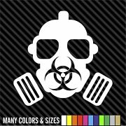 Bio Hazard Gas Mask Sticker Decal 4 Laptop Car Window - Many Colors And Sizes