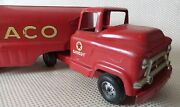 Great Vintage 1960andrsquos Buddy L Red Pressed Steel Texaco Fuel Truck Toy - 24