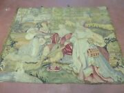3and039 X 4and039 Antique Tapestry French Hand Made Aubusson Weave Nature One Of A Kind