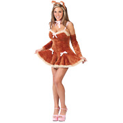 Fuzzy Touch Me Teddy Adult Halloween Costume Womenand039s Size Medium/large