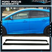 Fits 13-18 Ford Focus St And 16-18 Rs Side Skirts Pair Extensions Pu