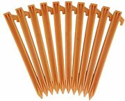 Usa Made 10 Plastic Tent Stakes With Rope Hook 10 Pack Or Wholesale 85 Pack