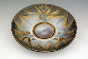 """BILL CAMPBELL Pottery Small Lotus Bowl 10 1/2"""" - 3 cups  CARVED  Porcelain Bowl"""