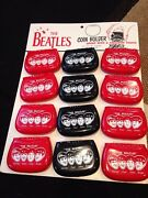 Vintage Beatles Coin Purses On Store Display 1964 Rare Collectible And Mint