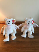 Beanie Babies Halo The Angel Bear Pair Selling Two For The Price Of One
