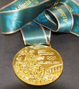 Gold Medal - 1996 Atlanta Olympics - With Silk Ribbon And Storage Pouch