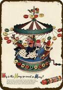 1946 Life Savers Candy Vintage Look Decorative Metal Sign - Carousel Merry Go Ro