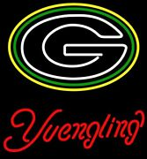New Nfl Green Bay Packers Yuengling Beer Neon Light Sign 20x16