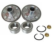 2 Front Hubs Bearings Fit Integra Civic Ex Si With Abs Civic Del Sol With Nut