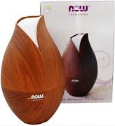Now Faux Wood Essential Oil Diffuser W/ Led Color Changing Light Ultrasonic
