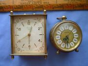 Two German Vintage Alarm Clocks Sheffield And Blessing
