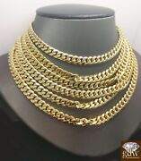7mm 10k Gold Cuban Link Necklace 20 22 24 26 28 30 Inch Chain Box Lock Real 10kt