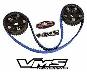 Vms X Gates Racing Timing Belt And 2 Cam Gears For 94-01 Acura Integra B18c Black