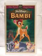 Bambi Vhs 9505 55th Anniversary, Fully Restored, Limited Edition