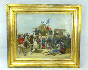 La Republique - Large Image Oil Painting Sign A.kubach 1887 French Colony