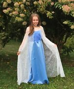 Elsa Costume Size 8-10 For Girl And Her 18 Doll