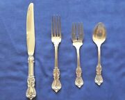 Reed And Barton Sterling Silver Marlborough 4 Piece Place Setting 6 Available