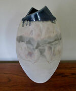 "HOFFMAN '94 Pottery Vase Mid Century Arts/ Crafts Sculpture Signed 12"" Tall"